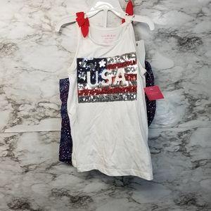 Isaac Mizrahi Toddler 2 piece 5/6 New USA 4th of